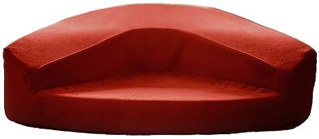 Cojín de meditación que aúna zafu y zabuton (Rojo)