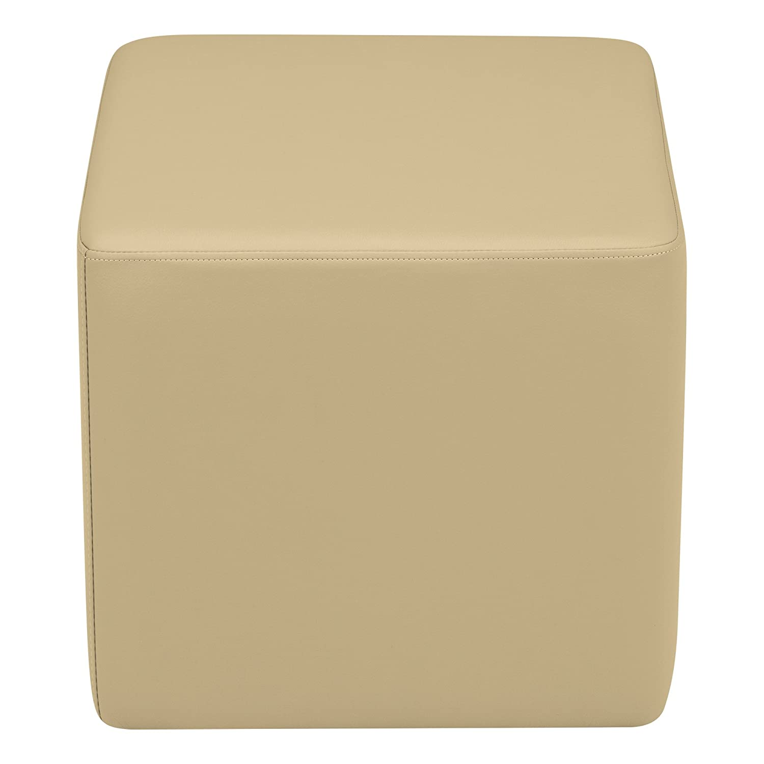 SPG-1001FG-A Sprogs Vinyl Soft Seating Square Stool 18 H Fern Green