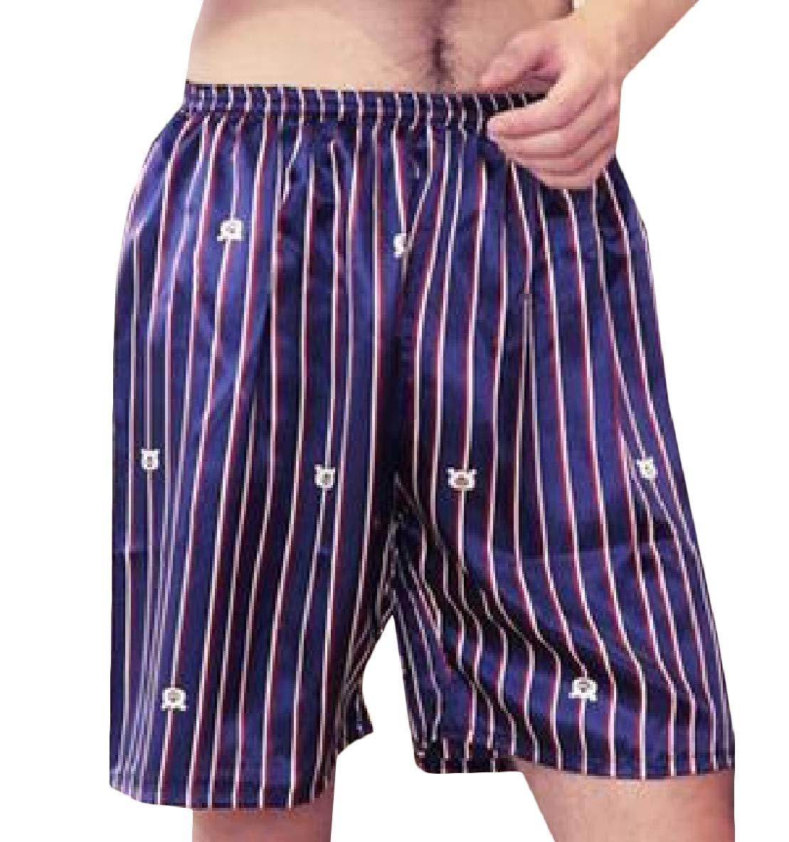 Winwinus Mens Comfort Silk Printed Relaxed-Fit Pajama Pants/Lounge Pants? Pattern15 L