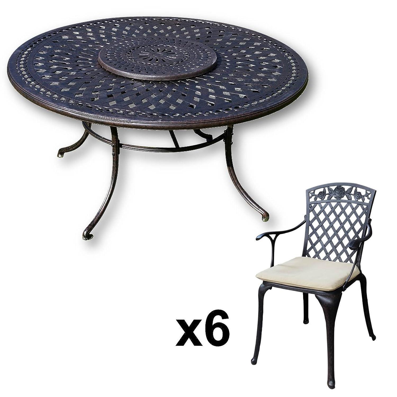 Lazy Susan Frances 150 Cm Runder Gartentisch Mit 6 Stuhlen