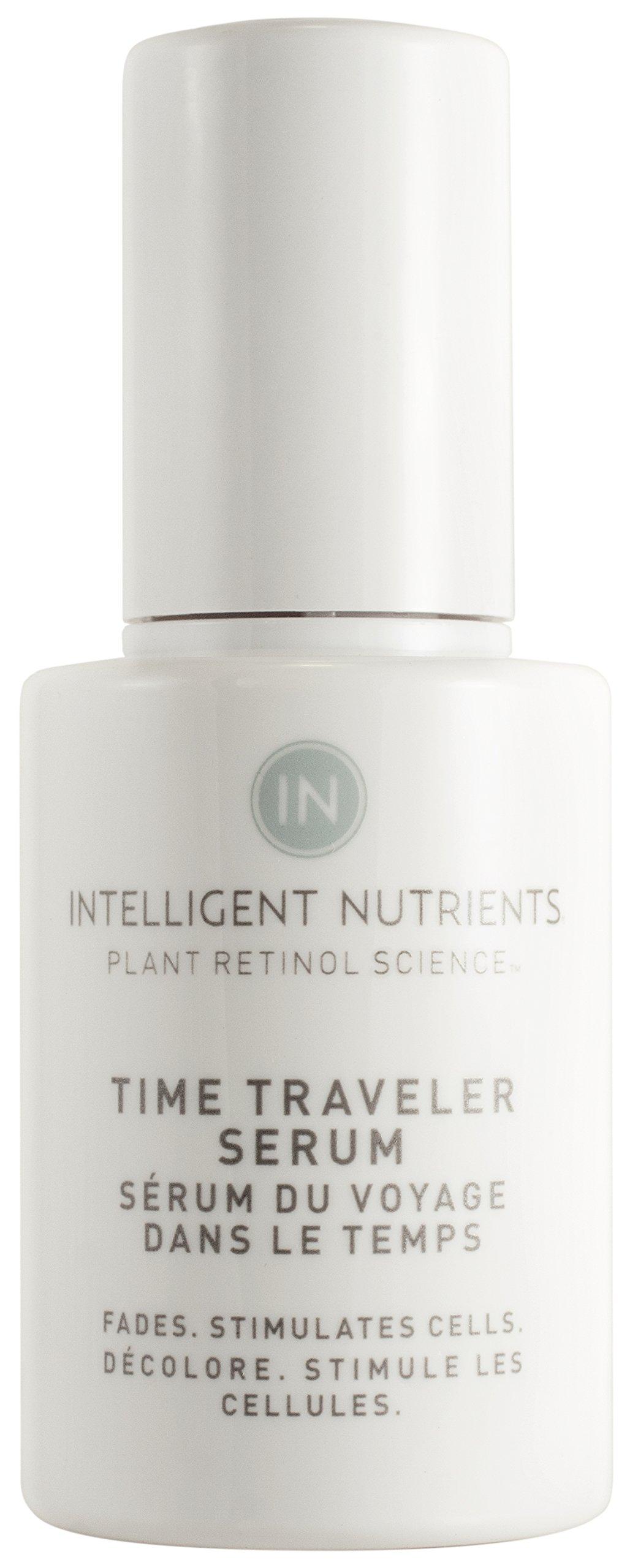 Intelligent Nutrients Plant Retinol Time Traveler Serum - Certified Organic Plant Retinol Serum with Red Algae for All Skin Types (1 oz)