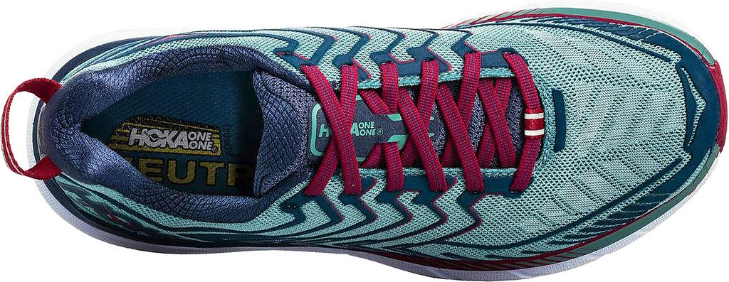 HOKA ONE ONE Women's Clifton 4 Running Shoe B0711TPSHR 9 W US|Aquifer/Vintage Indigo