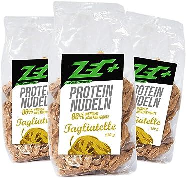 Zec + proteína Low Carb Pasta 3 Pack   Deliciosos y kalorienarme Pasta con proteinen   muy Pocas Carbón hydraten Low Carb   Alto Porcentaje lastre ...