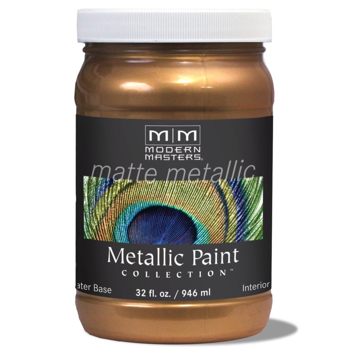Modern Masters MM204 Matte Metallic Paint, Antique Bronze, Quart