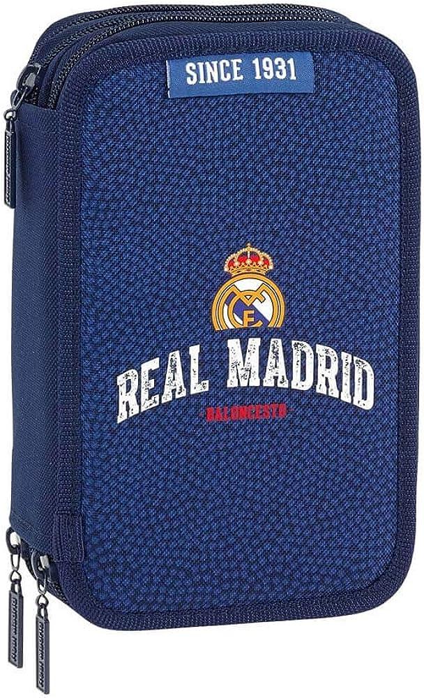 Safta Estuche Real Madrid Basket Oficial 41 Útiles Incluidos 210x60x105mm: Amazon.es: Ropa y accesorios