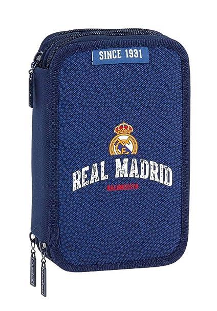 Safta Estuche Real Madrid Basket Oficial 41 Útiles Incluidos 210x60x105mm