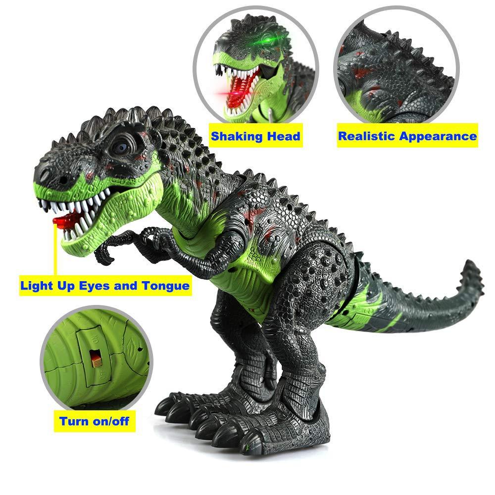 Tuko Dinosaur Toys Jurassic World Electronic Led Light Up Roaring Realistic Large T-Rex Toys for 3-12 Year Old Toddler Boy Girl Gift by Tuko (Image #5)