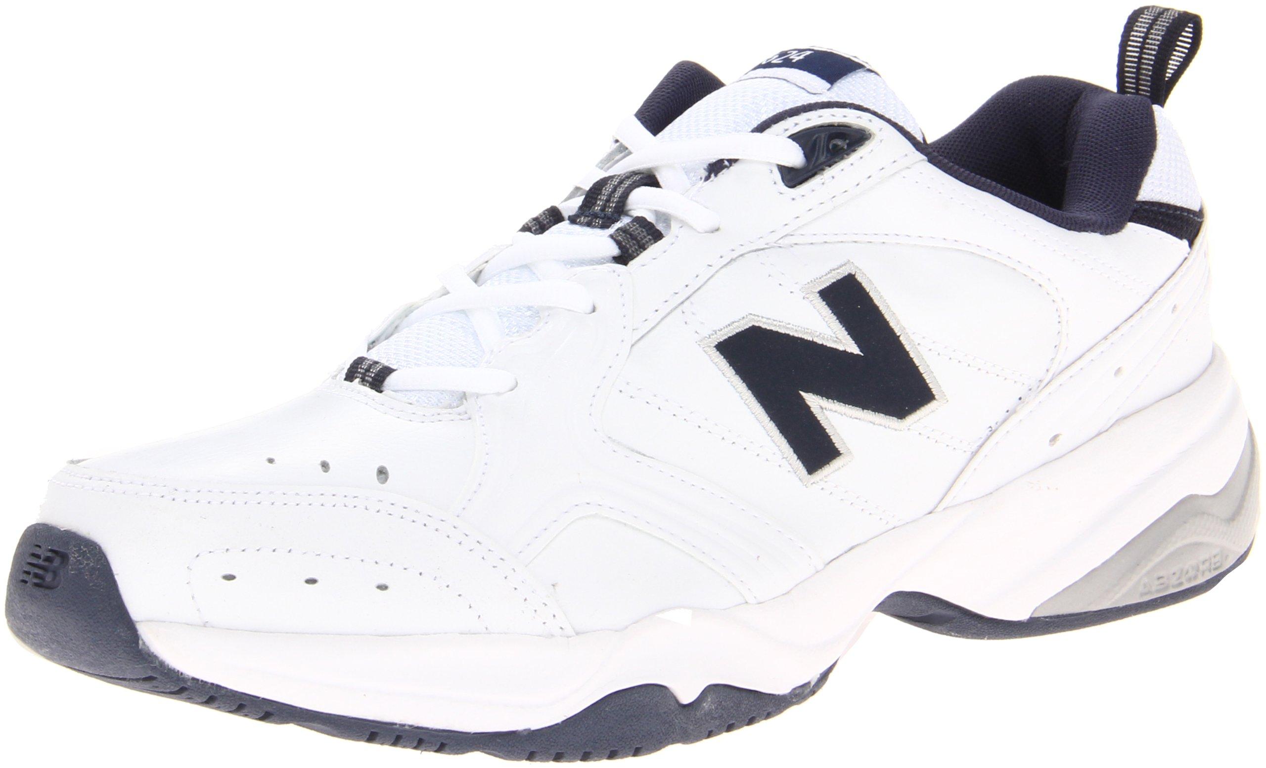New Balance Men's MX624v2 Casual Comfort Training Shoe, White/Navy, 16 6E US by New Balance