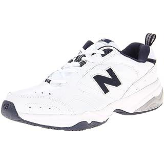 New Balance Men's 624 V2 Casual Comfort Training Shoe, White/Navy, 12 N US