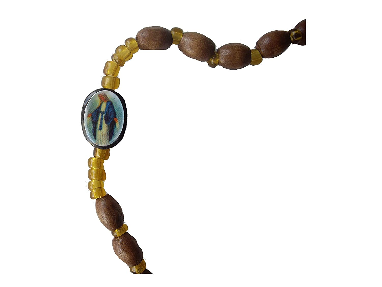 for-ever Rosario de Madera con imagenes religiosas y Cruz con Imagen de Jesucristo.