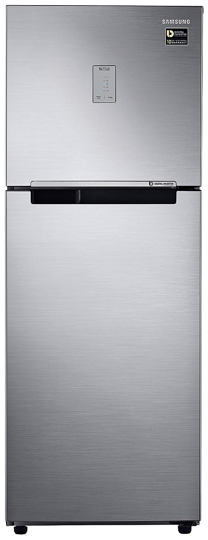 Samsung 253L 3 Star Inverter Frost Free Double Door Refrigerator (RT28T3483S8/HL, Elegant Inox,)