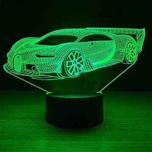 JMLLYCO Sports Car Toy,Race Car Night Light with Timer & Remote Control & Smart Touch 7 Colors Changing LED Sports Car Bedside lamp for Adult or Kids as Birthday Gift or Holidays Present