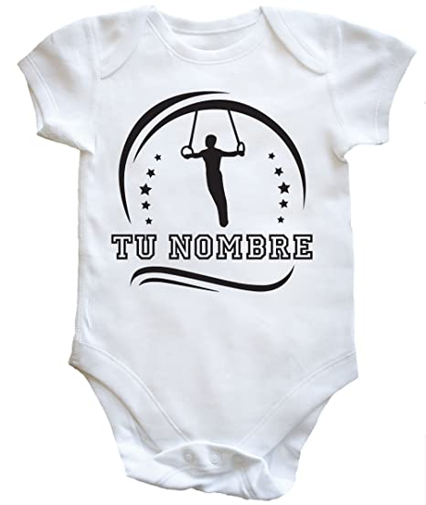 HippoWarehouse SILUETA GIMNASIA MASCULINO PERSONALIZADO (TU DISEÑO , TU NOMBRE) body bodys pijama niños