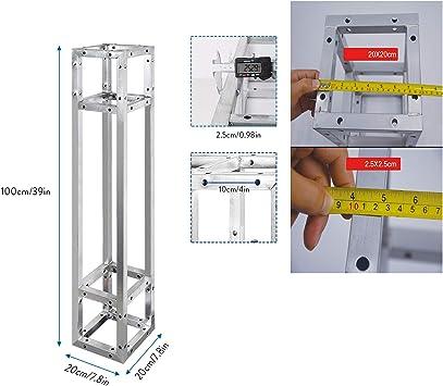 UNHO 3PCS Truss Cuadrado Estructura de Aluminio Soporte Truss para ...