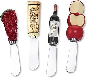 Wine Things Vino Resin Cheese Spreaders Set of 4