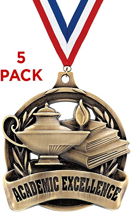 Lamp of Knowledge  metal Award plaque blue 5 x 7 size