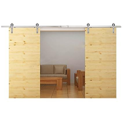 Amazoncom OrangeA Sliding Barn Door Hardware Kit Stainless Steel - 10 ft stainless steel table