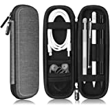 Fintie Holder Case for Apple Pencil 1st / 2nd Gen, PU Leather Carrying Bag Sleeve w/Mesh Pocket for iPad Air 3rd Gen, iPad Mini 5, iPad Pro Pencil, Samsung Stylus, Surface & Wacom Pen, Gray