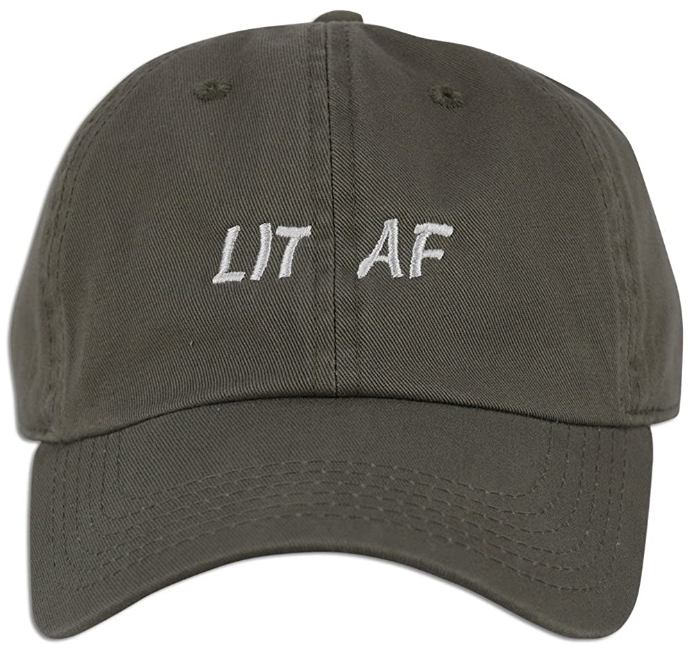 LIT AF Embroidered Dad Hat Cap Adjustable New Best Unstructured Soft Unisex  NEW (Lt. Pink) at Amazon Men s Clothing store  c3b8f25ecfab