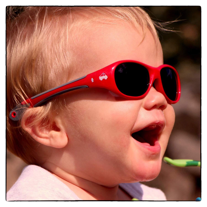 3dd71a100b 18 grammes CADEAU DE NOËL indestructibles en caoutchouc souple Protection  100 % UV 400 polarisées ActiveSol Lunettes de soleil pour BÉBÉ 0 à 24 mois  GARÇON