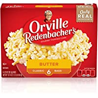 Orville Redenbacher's Butter Popcorn, 3.29 Ounce Classic Bag, Gluten Free, 6-Count, Pack of 6