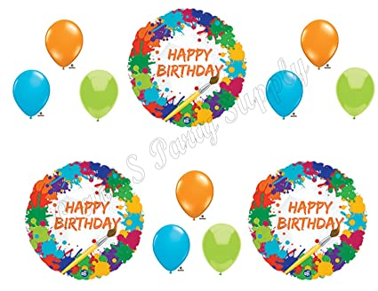 Amazon ART PAINTING Birthday Balloons Decoration Supplies Party