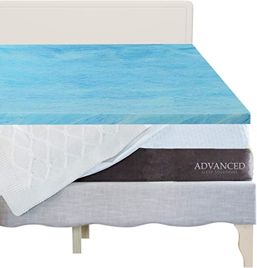 """3/"""" Full Size Gel-Infused Memory Foam Mattress Topper Pad Bed w// Removable Cover"""