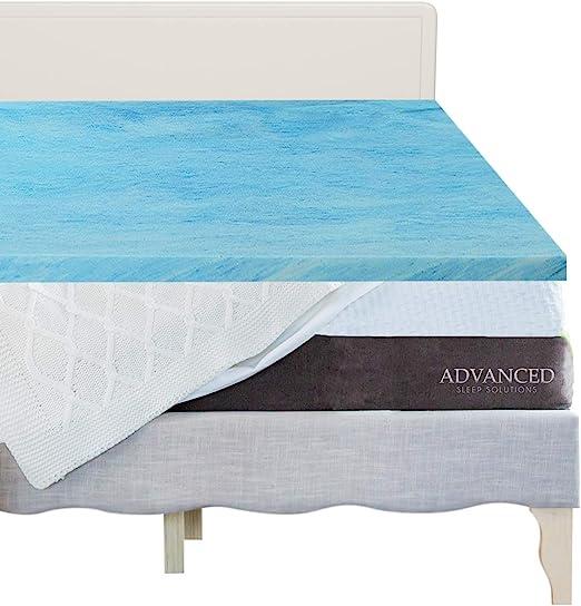 Amazon Com Gel Memory Foam Mattress Topper Twin Size Plush 2