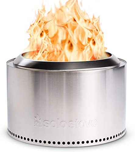 Solo Stove 27″ Yukon Fire Pit Stainless Steel Smokeless Outdoor Fire Pit Great