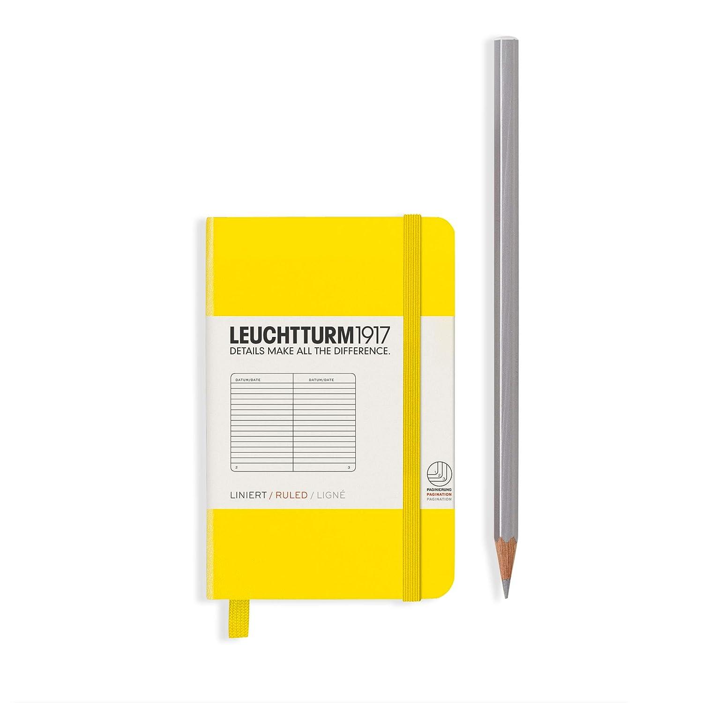 LEUCHTTURM1917 349347 Notizbuch Mini Hardcover 169 nummerierte Seiten liniert A7 Rot