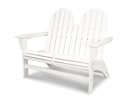 Magnificent Polywood Vineyard Adirondack Bench White Inzonedesignstudio Interior Chair Design Inzonedesignstudiocom