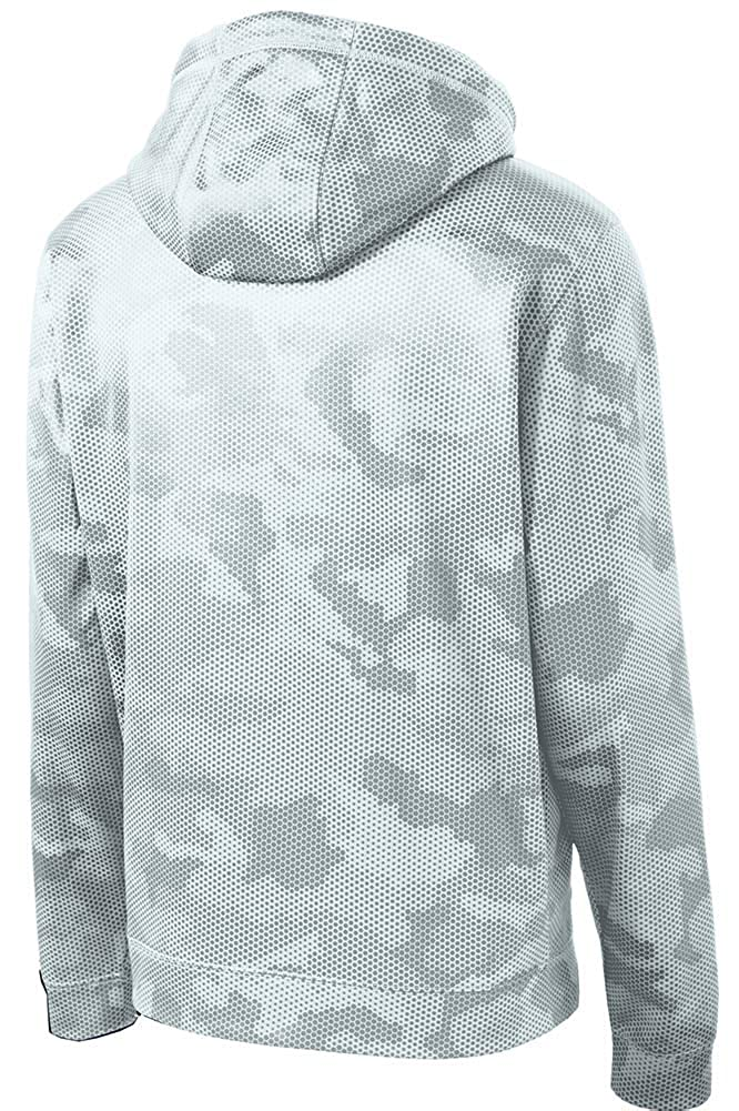 DRIEQUIP Youth Moisture Wicking CamoHex Fleece Hooded Pullover in Sizes XS-XL