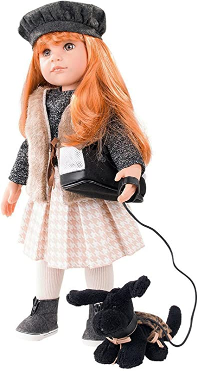 "Gotz Hannah Loves Horseback Riding 19.5/"" All Vinyl Poseable Doll with Brown H..."