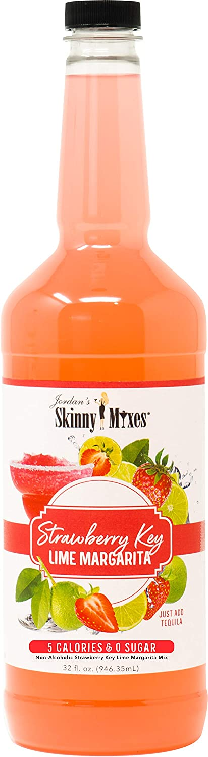 Amazon Com Jordan S Skinny Mixes Strawberry Key Lime Margarita Sugar Free Cocktail Flavoring Mix 32 Ounce Bottle Grocery Gourmet Food