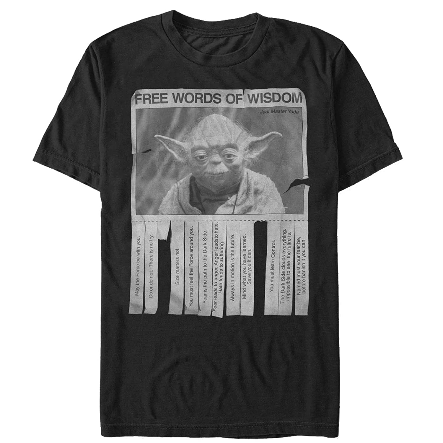 Star Wars Mens Yoda Words of Wisdom T-Shirt