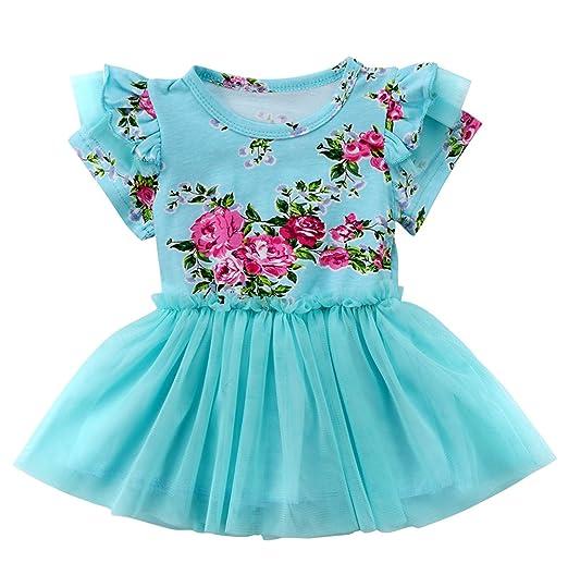 5cbbdbabe Amazon.com  Emmababy Newborn Baby Girls Summer Tutu Dress Ruffle ...