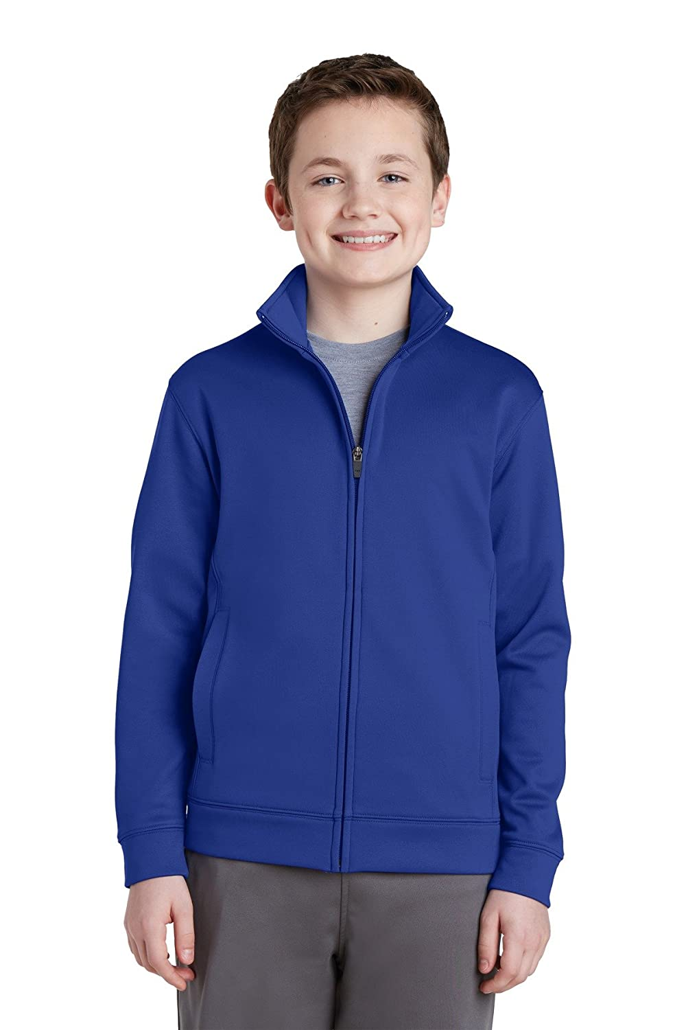 Sport-Tek Boy's Fleece Full-Zip Jacket Sport-tek YST241