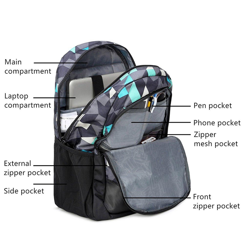 efdc983ad2056 Rucksack USB wiederaufladbare Schulrucksack Set Oxford Tuch Laptop Tasche  Rucksack Daypacks Backpack Schulrucksäcke Umhängetasche Federmäppche für  Mädchen ...