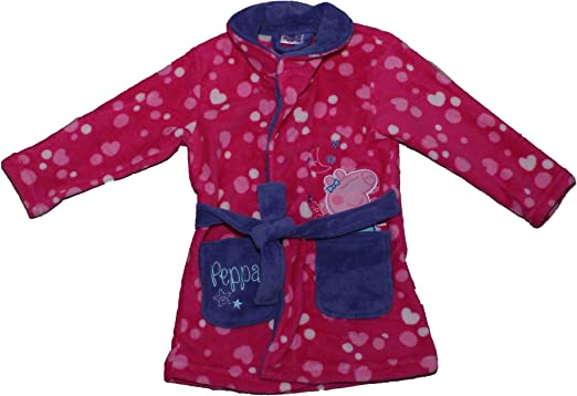 Amazon.com: Peppa Pig Girls Spots Panel Print Coral Fleece Hooded ...