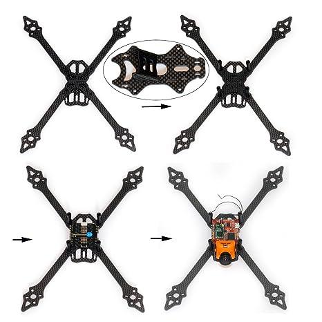 usmile xsu220 220 mm de fibra de carbono Quadcopter Quad X marco para FPV Drone Racing como QAV210 QAV250 qav-r qav-x Marciano II RX220: Amazon.es: Hogar