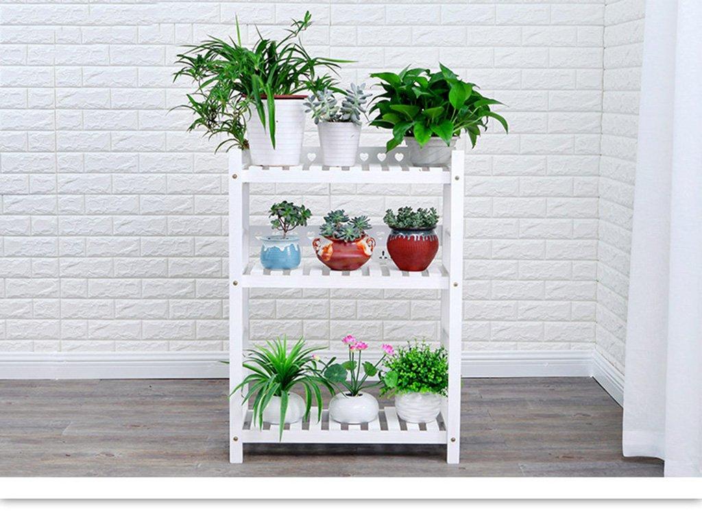 LYM & Pot Rack Mensola per Pavimenti in Legno massello Mensola per Pavimenti Multi-Strato Mensola per Interni ed Esterni Pot di Fiore Decorativi (colore   B, Dimensioni   1)