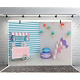 10x12 FT Backdrop Photographers,Vivid Ocean Back with Paint Effects with Wind Rose Rudder Cruise Image Background for Kid Baby Boy Girl Artistic Portrait Photo Shoot Studio Props Video Drape Vinyl