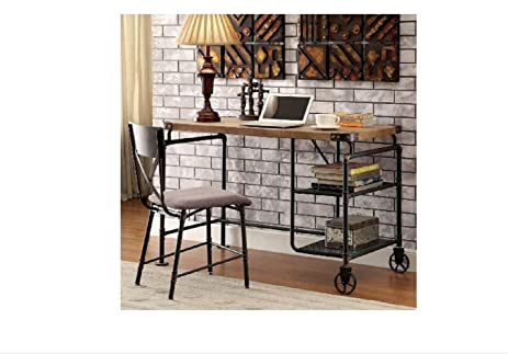 Industrial Desk Computer Office Rustic Modern Farmhouse Large Work