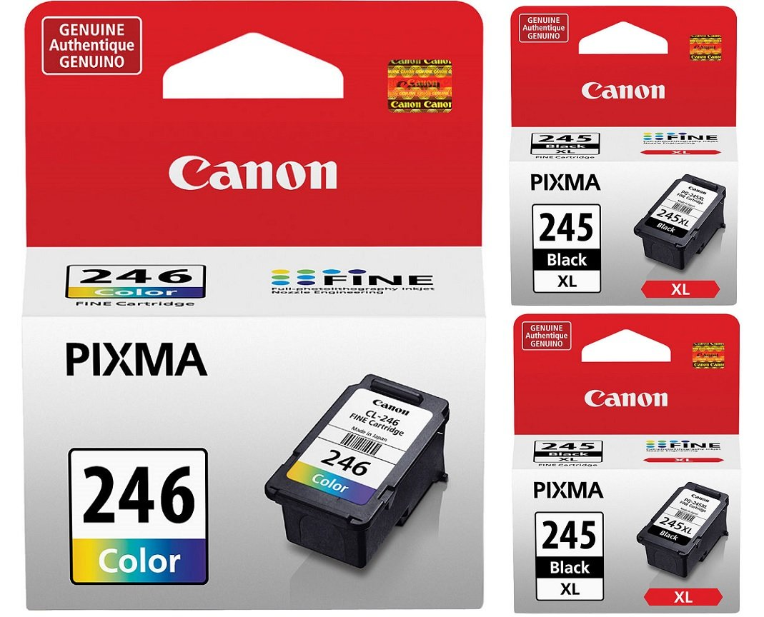 Genuine Canon Pg 245 Xl High Capacity Black Ink Tinta 47 Cartridge 2 Pieces 8278b001 Cl 246 Color 8281b001 Office Products