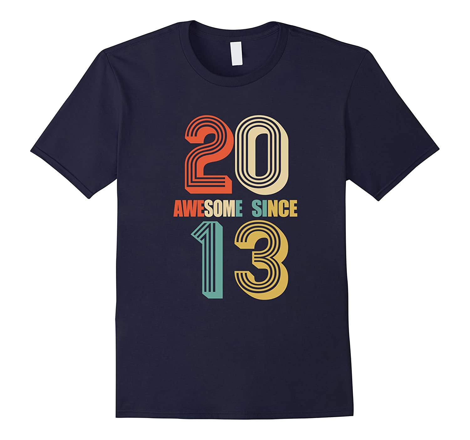 Awesome Since 2013 T-Shirt 4 yrs old Bday 4th Birthday Tee-BN
