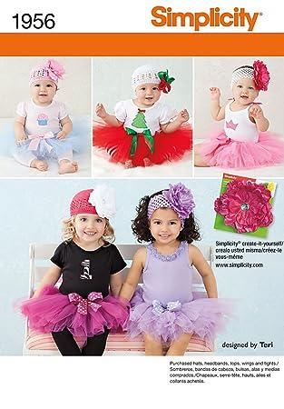 Simplicity Schnittmuster 7579 A Tutu und Applikationen fürs Baby ...