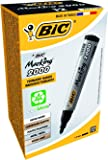 BIC Marking 2000 Permanent Markers Bullet Tip Black 12 Box