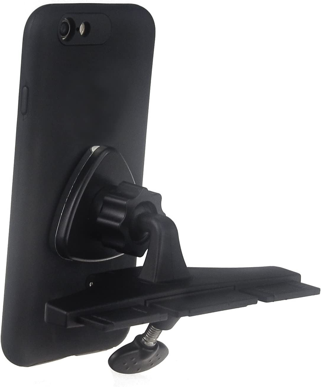For Samsung Silicone Car DISC Mount Holder For Smartphones Saza Electronics S035 Universal CD Slot Magnetic Phone Holder Mini Tripod Mount Portable Flexible Stand with 360 Degree Rotation iphone