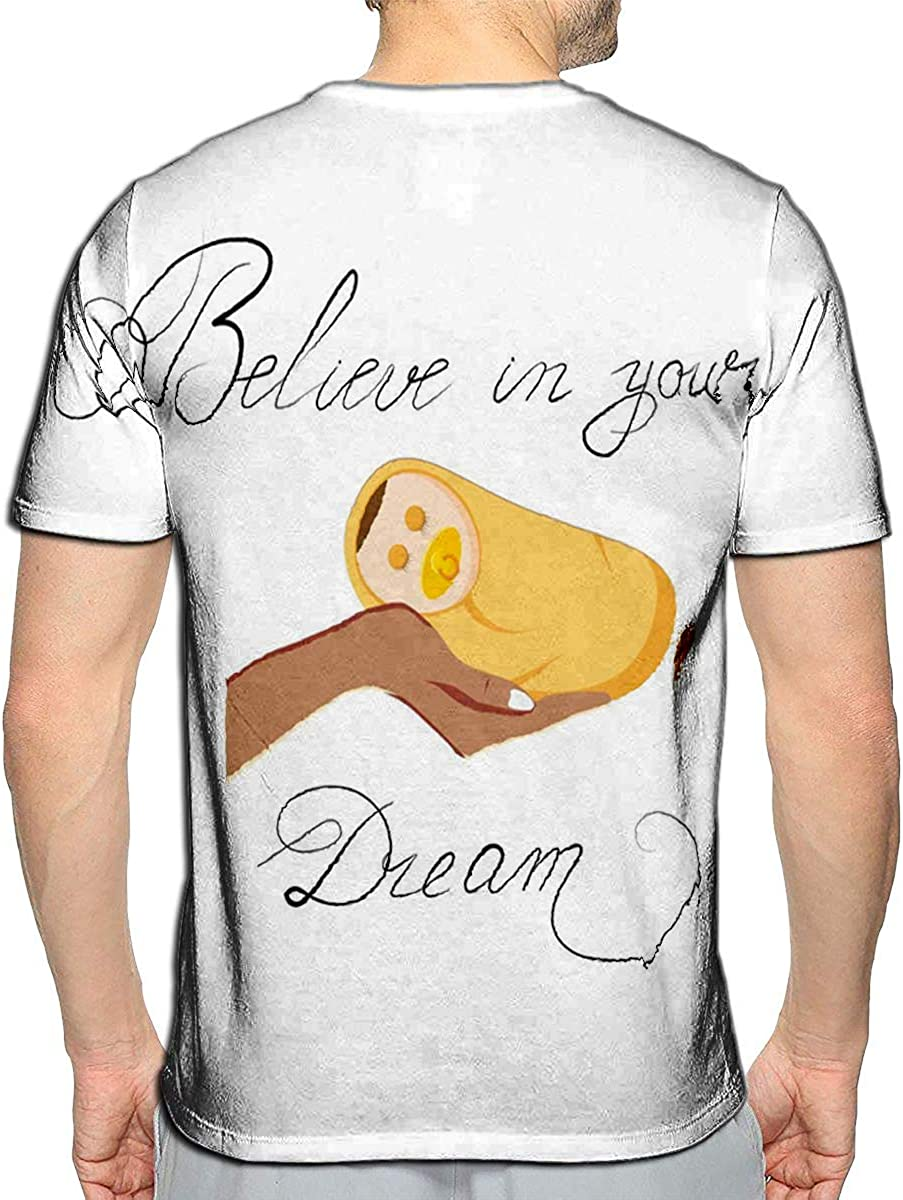 3D Printed T Shirts Futuristic Quote Future No Limits Casual Mens Hipster Top Tees