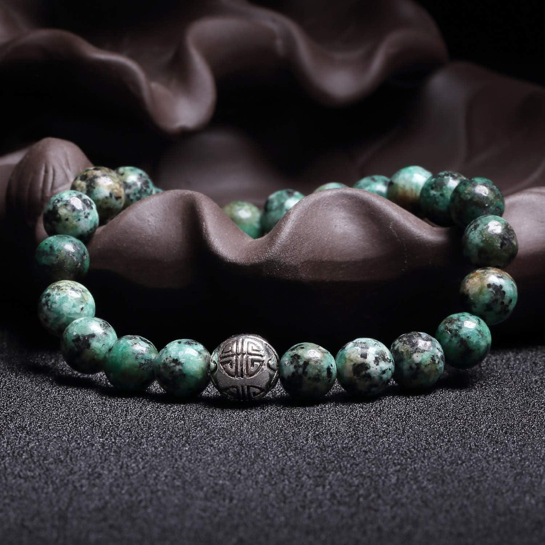 Bracelet Femme Bracelet En Pierre Naturelle 8mm Perles Bracelet Stretch Bracelet Grand Bracelet V/éritable Bracelet Pour Femme Cadeau Pour Anniversaire